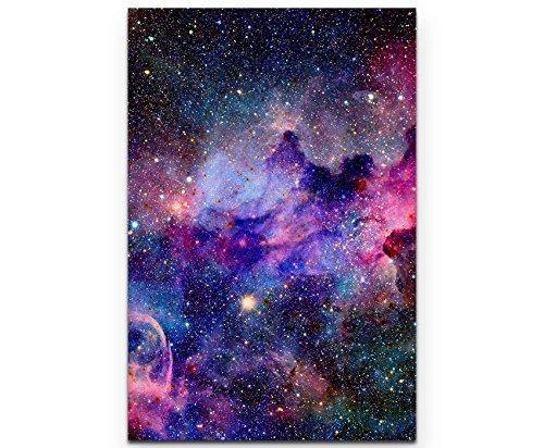 Paul Sinus Art Nebel und Galaxien im Weltraum - Leinwandbild 90x60cm