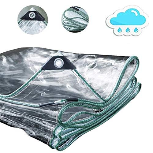 QI-CHE-YI Tarpaulin, PVC Soft Glass Transparent Plastic Thickened Rain Cloth, Household Windshield Heat Insulation,3mX6m
