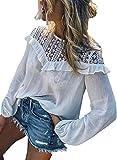 AlvaQ blusa de manga larga con cuello redondo y costuras de