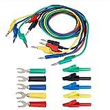 Akozon Kit de Cable de Prueba de Sonda de Multimetro, Kit de sonda de bananas 4 mm conecto...