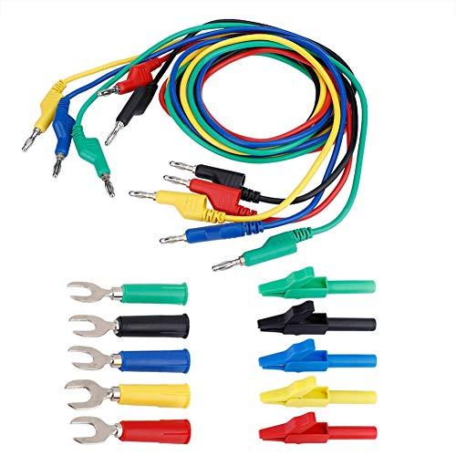 Bananenstecker-Kit, 4 mm Bananen-zu-Bananenstecker-Messleitungs-Kit P1036A/P1036B Optional für Multimeter-Netzteile und elektronische Geräte(P1036A-#1)
