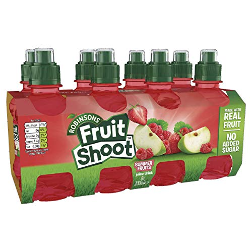 Robinsons Fruit Shoot Fruit Juice Summer Fruits, 8x200ml