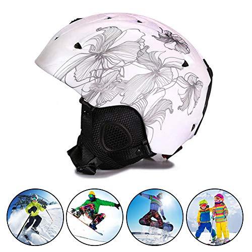 Deriva de Snowboard y Ski Casco, Equipo de protección a Prueba de Golpes/a Prueba de Viento para el esquí, Caja-Certificado de Nieve Casco para Hombres y Mujeres