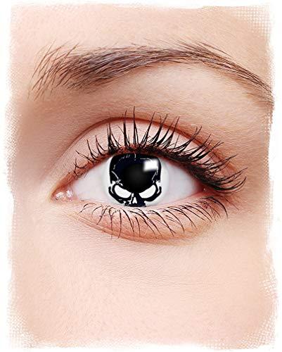 Horror-Shop Totenkopf Motiv Kontaktlinsen