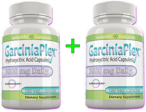 2x Pure Garcinia Cambogia Ultra Slim Extract, 60% HCA, 180 Caps, 1500 mg - 3000mg Daily, 8 oz All Natural Dr. Recommendations Diet Tips & Best Reviews For How to Burn & Lose Fat Fast - Naturally Lower Weight loss Pills & Cholesterol Support Supplements That Works – Quickly, Safely Slim At Home, 180 Capsules Per Bottle