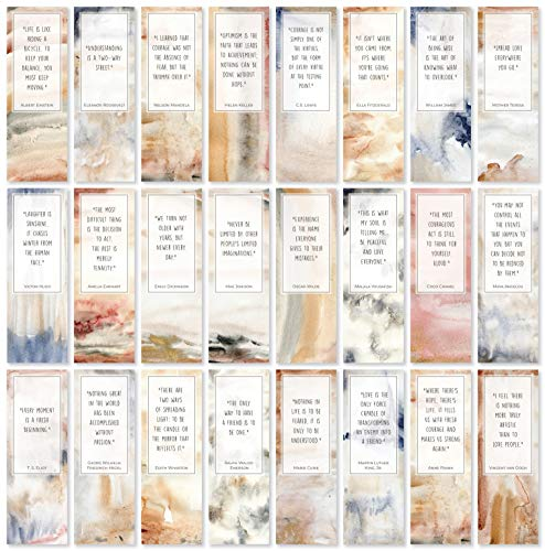 Abstract Bookmarks with Inspirational Quotes - Pack of 48