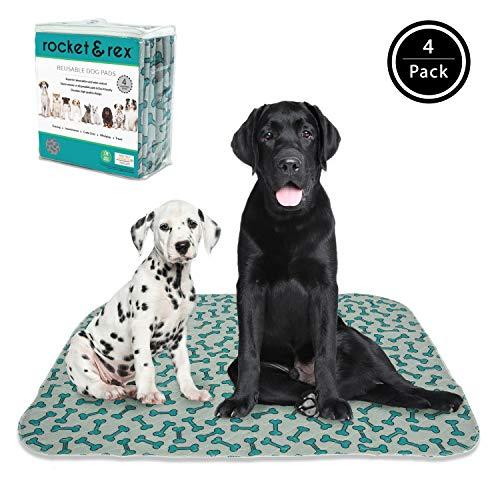 rocket & rex Washable Dog Pee Pads. Dog Training Pads, Waterproof, Reusable Dog Pee Pads....