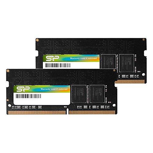 Silicon Power SP016GBSFU213B02 Arbeitsspeicher (16 GB, DDR4-2133 (PC4-17000), 260-Pin, SO-DIMM, 1,2 V, Schwarz 16GB (2 x 8 GB)