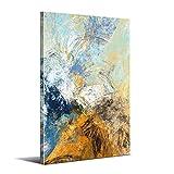 Cuadro Abstracto Moderno - 80 x 120 cm - Decoración de Pared para Salón, Dormitorio, Cocina y Baño - Lienzo de Poliéster y Bastidor de Madera, LEN-022