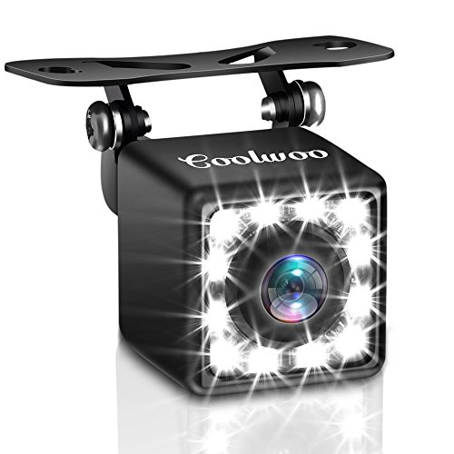 Backup Camera, 175º Wide Angle Easy Install HD Rear View Back Up Waterproof Cam with 12 LED Nigh Vision Lights, for All Cars
