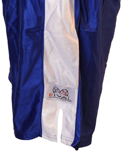 Rival Traditional Cut Dazzle Boxing Trunks - Medium - Blue/White