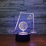 Regalo creativo de la decoración del USB de la luz de la noche de la lámpara de mesa 3D del golf 3D para los niños