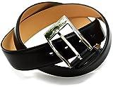 タバラット ベルト メンズ ビジネス 本革 35㎜ 日本製 姫路レザー サイズ調節可 ビジカジ (ブラック)