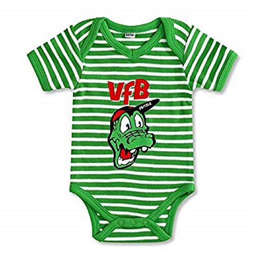 VfB Stuttgart GOTS Baby Body Fritzle grün in 3 Größen verfügbar (50/56-74/80) VfB Fairplay Fairtrade! (62/68)