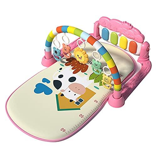Exuberia Gimnasio Piano Pataditas, Manta De Gimnasio para Bebe, Alfombrilla De Juego para Bebés, Estante De Fitness con Pedal De Música Alfombra De Aprendizaje, 77 X 48 X 40 Cm
