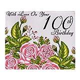 CafePress 100Th Birthday Pink Rose Throw Blanket Soft Fleece Throw Blanket, 50'x60' Stadium Blanket