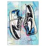Air Jordan 1 bajo Travis Scott x Fragment print (50x70cm) *u