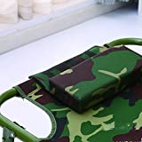 SHENGHUAJIE Outdoor Camping Portable Folded Bed Stretcher Canvas Office noon Break March Traveling Bed (Camouflage)