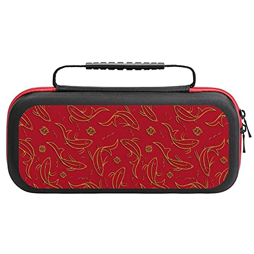 Ornamental Fish Travel Carrying Case Tote Bag For Nintendo Switch Accessories Holds 20 Game Card Bag