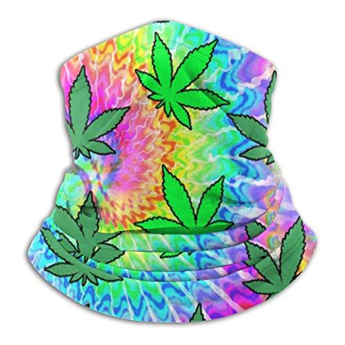 Unisex microfibra cuello calentador flor maleza Tie Dye pasamontañas headwear bufanda para polvo viento protección solar