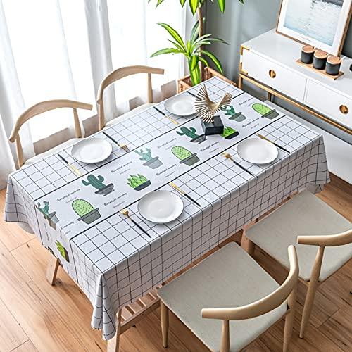 Mantel de PVC impermeable para mesa de mesa, mantel rectangular de plástico, mantel de hule a cuadros, 140 x 180 cm