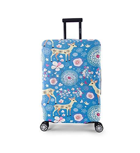 Periea Elasticizzata Premium Coperture per valigie - 38 colori disponibili - Piccolo, Medio o Grande (Blue Animals, Piccolo)