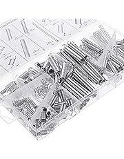NOVSIX 200 Stks Zink Plated Compressie en Verlenging Veren Assortiment Kit Industrie Veren Set