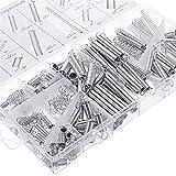NOVSIX 200 piezas Kit de surtido de resortes de compresión y extensión chapados en zinc Conjunto de resortes industriales
