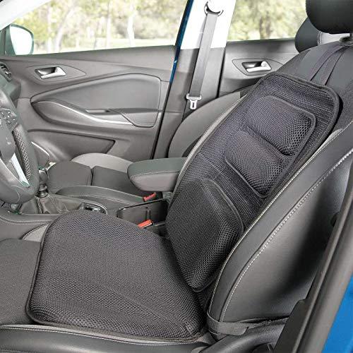 maxVitalis Druckentlastungs- Sitzauflage Autositzauflage Kern aus Viscoschaum und Gelkissen Schwarz