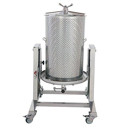 Hydropresse 160 Liter, komplett aus Edelstahl, schwenkbar, Wasserdruckpresse