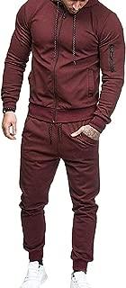 Men's Front Zipper Long Sleeves Tracksuit Sweatshirt Top Pants Sets 1 US X-Small