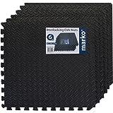 Marko 24 SQ FT Interlocking Black EVA Soft Foam Exercise Floor Mats