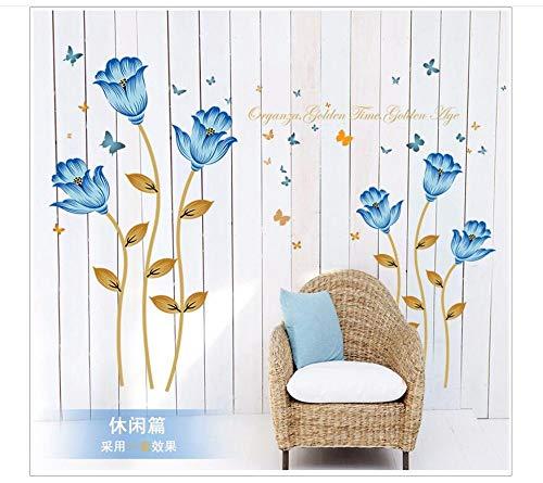Runinstickers Pegatinas De Pared Bajo Precio Promoción Hm19080 Rosas Azules Dulce Sofá Habitación De Matrimonio Sala De Fondo El Dormitorio Decora PE PVC