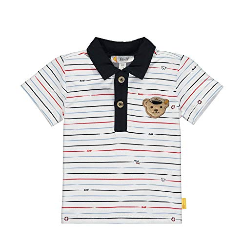 Steiff Baby-Jungen Poloshirt, Weiß (Bright White 1000), 80 (Herstellergröße: 080)