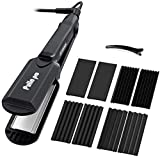 Pulla 4 in 1 Hair Crimper Curling Iron and Straightener - Professional Interchangeable
