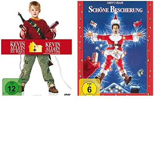 Kevin allein zu Haus/Kevin allein in New York + Schöne Bescherung- DVDs- 3 Filme