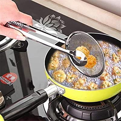 Justew New Kitchen Multi-functional Filter Spoon with Clip Food Oil-Frying BBQ Salad Filter Outdoor Cooking Tools & Accessories