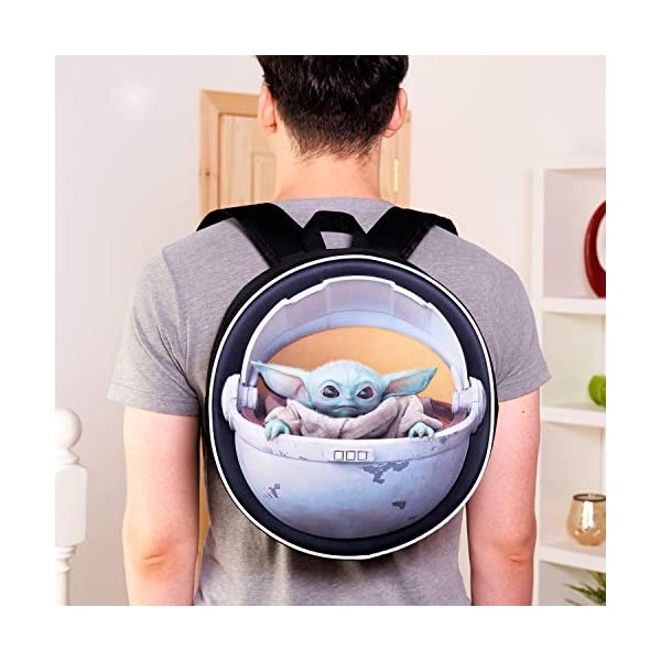 51bIp3Wu7jL. SS600  - Disney® Official Star Wars The Child Backpack Baby Yoda Mandalorian | Licenced School Travel Bags Baby Yoda in Carriage…