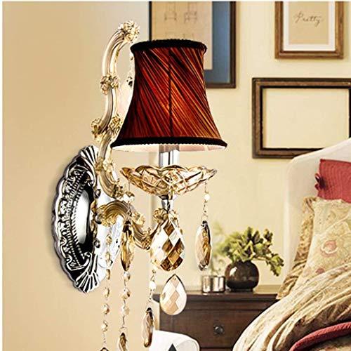 HYY-YY Lámpara de Cristal de la Sala de Estar de la lámpara de Pared Retro Europeo de Lujo Elegante Dormitorio Lámpara de cabecera Lámpara del Estudio Luces Restaurante