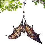 WDMDLZFD Bat Wind Catcher Spinner Esculturas, Bat Wind Chimes Molino De Viento Spinner Cinético De Onda Cuadrada con Gancho para Colgar para Jardín