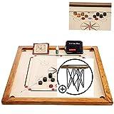 Carrom Board Set oficial de 7 kg – 74 cm x 74 cm (tamaño oficial) – Área de juego interna – Calidad de madera dura – Juego completo con discos oficiales y polvo (con mesa) – Fabricado en India