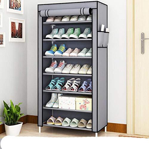 Zapatero organizador de zapatos de metal de aluminio para zapatos, estante de almacenamiento de zapatos, organizador de casa, accesorios, cremallera 1