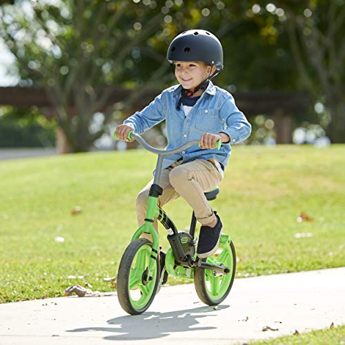 Little Tikes My First Balance-to-Pedal Training Bike for Kids in Green, Ages 2-5 Years, 12-Inch, 649615C