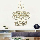 hetingyue Moda Papa's Pizza Pizza Cartel de la Pared Decoración de la Ventana Etiqueta de Vinilo Decoración del hogar Fondo de Pantalla 45x61cm