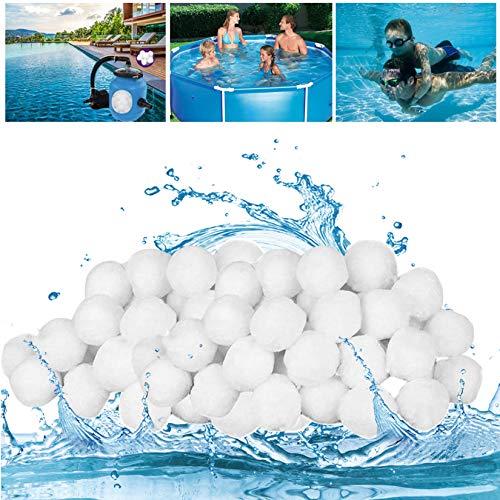 GothicBride Filter Balls 1200g ersetzen 42 kg Filtersand, Filterbälle für Pool, Schwimmbad, Filterpumpe, Aquarium Sandfilter.