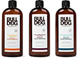 Bulldog Set 3 Gel Doccia con Limone e Bergamotto, 500 ml, Vetiver e Pepe Nero, 500 ml e Menta ed Eucalyptus, 500 ml