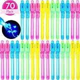 Best Spy Pens - 70 Pieces Invisible Ink Pen with Light Spy Review