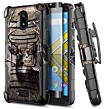E-Began Case for Wiko Ride (W-U300), AT&T Radiant Core (U304A) /Cricket Icon with Tempered Glass Screen Protector, Belt Clip Holster Kickstand Shockproof Protective Heavy Duty Armor Case (Deer)
