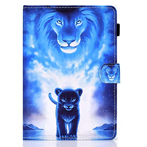SiriPinfan 10 inch Tablet Case Cover - Universal Leather Stand Case Folio Cover Case Compatible with Fire HD 10,Google Nexus 9/10,Galaxy Tab E 9.6/Tab A 10.1, Sony Xperia Z/Z2/Z3