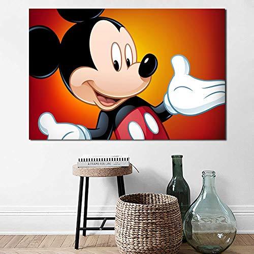 N / A Rahmenlose Malerei Leinwanddruck Cartoon Maus Hauptdekoration modernes Poster WohnzimmerdekorationCJX2032 30X45cm